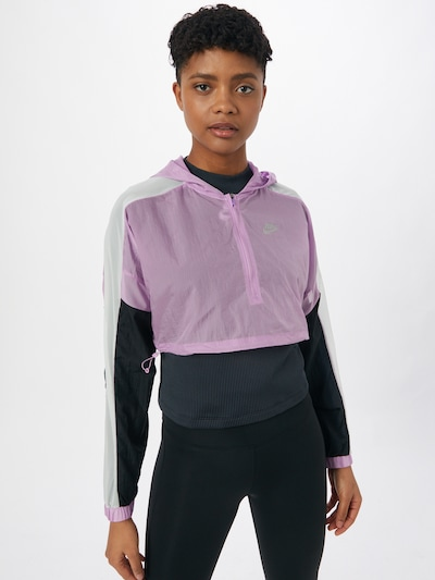 NIKE Sportjas in de kleur Lila / Zwart / Wit: Vooraanzicht