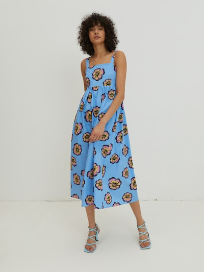 EDITED Šaty 'Alena' - svetlomodrá / žltá / fialová / čierna, Model/-ka