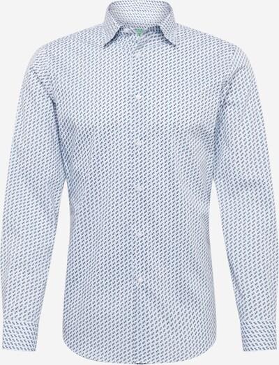 UNITED COLORS OF BENETTON Hemd in azur / hellblau / dunkelblau / weiß, Produktansicht