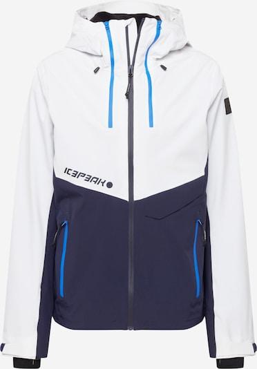 ICEPEAK Jacke 'DASSOW' in himmelblau / dunkelblau / weiß, Produktansicht