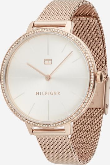 TOMMY HILFIGER Uhr in rosegold / weiß, Produktansicht