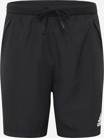 ADIDAS PERFORMANCE Sportsbukser i svart