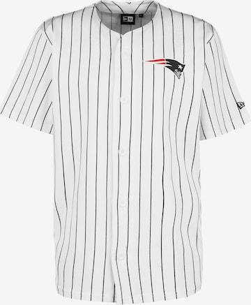 NEW ERA Trikot 'Patriots Pinstripe Baseball Jersey' in Weiß