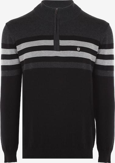 Jimmy Sanders Pullover Milano mit Stehkragen in grau / schwarz, Produktansicht