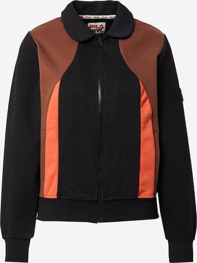 FILA Jacke 'Evonne' in braun / rot / schwarz, Produktansicht