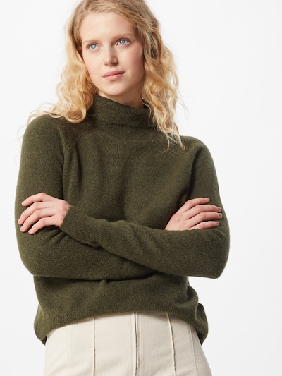 JDY Pullover 'Elanora' in dunkelgrün, Modelansicht