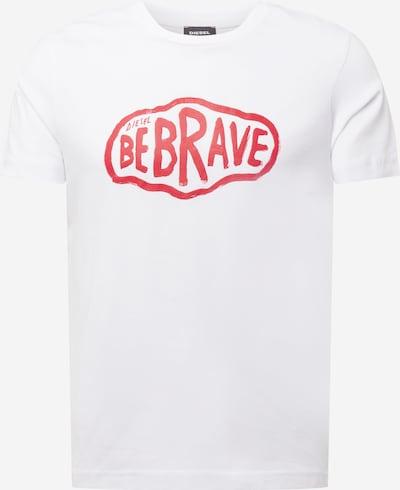 Maglietta 'DIEGOS' DIESEL di colore rosso / bianco, Visualizzazione prodotti
