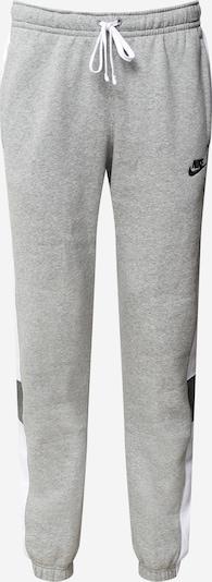 Nike Sportswear Nohavice - sivá melírovaná / čierna / biela, Produkt