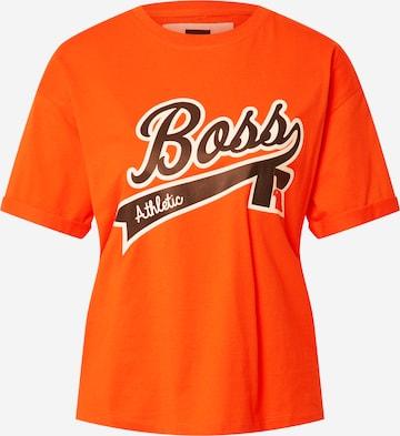 BOSS Shirt 'C_Evarsy_Russell Athletics' in Orange