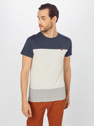INDICODE JEANS Тениска 'Hammond' в нейви синьо / бяло: Изглед отпред
