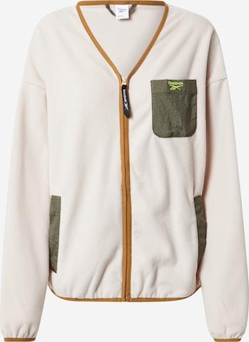 Reebok Classics Fleece Jacket 'Classics Polar' in Beige