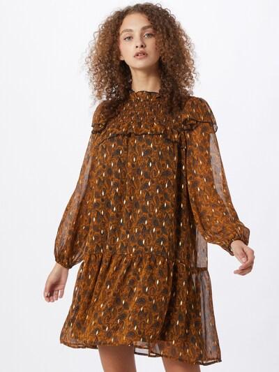 OBJECT Kleid in braun / orange, Modelansicht