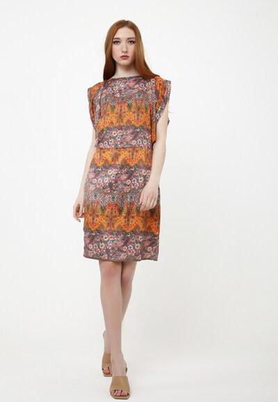 Madam-T Sommerkleid 'NAOMI' in orange / rosa, Modelansicht