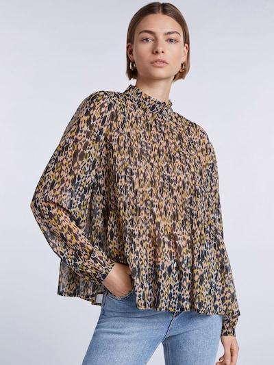SET Bluse in gelb / lachs / schwarz, Modelansicht