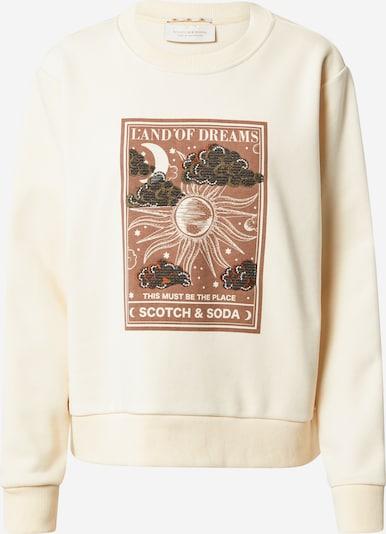 SCOTCH & SODA Sweatshirt in Light beige / Brown / Dark brown, Item view