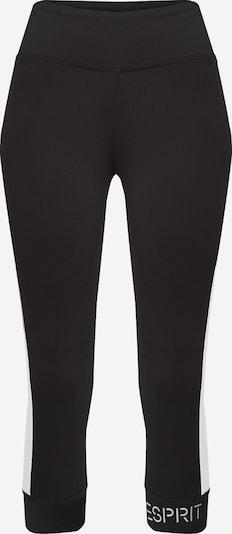 ESPRIT SPORT Sportbroek in de kleur Zwart / Wit, Productweergave