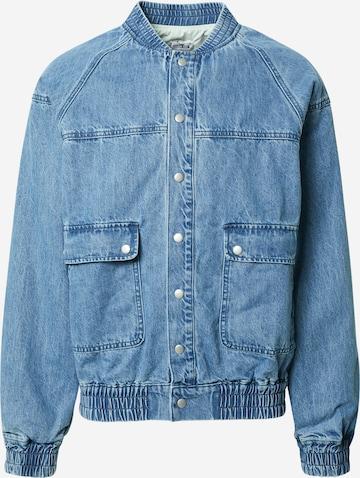 ABOUT YOU x Benny Cristo Between-Season Jacket 'Ramon' in Blue