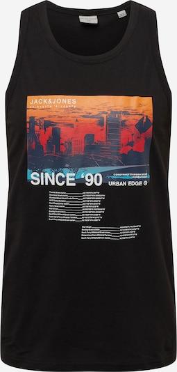 JACK & JONES Tričko 'BLADE' - námořnická modř / korálová / oranžově červená / černá / bílá, Produkt