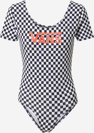 Body a maglietta VANS di colore albicocca / nero / bianco, Visualizzazione prodotti