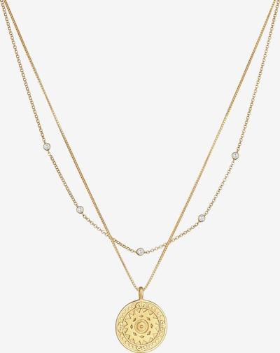 ELLI Halskette Layer, Münze, Ornament in gold, Produktansicht