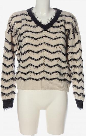 My Own V-Ausschnitt-Pullover in S in schwarz / wollweiß, Produktansicht