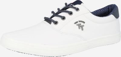 TOM TAILOR Baskets basses en bleu marine / blanc, Vue avec produit