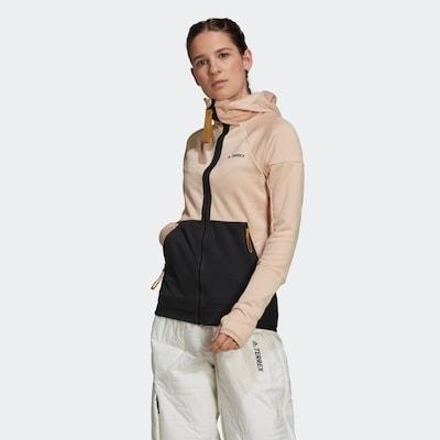 ADIDAS PERFORMANCE Jacke in rosa / schwarz: Frontalansicht