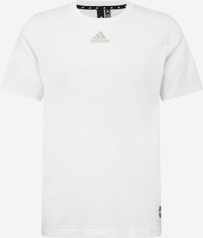ADIDAS PERFORMANCE Sportshirt in blau / dunkelbraun / hellrot / weiß, Produktansicht