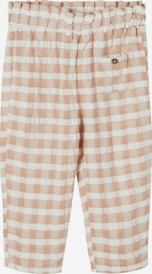Lil ' Atelier Kids Pantalon 'Inga' en beige / blanc, Vue avec produit