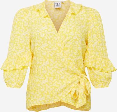 Rock Your Curves by Angelina K. Blusa en amarillo / blanco, Vista del producto