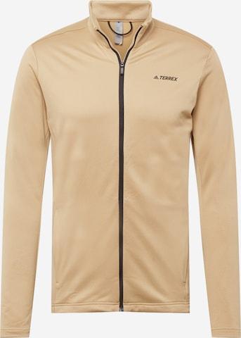 Veste en polaire fonctionnelle adidas Terrex en beige