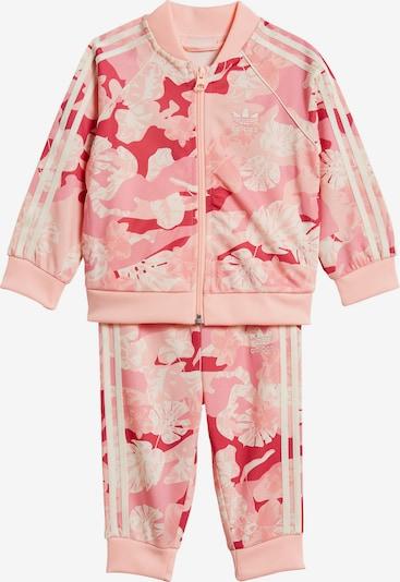 ADIDAS ORIGINALS Trainingsanzug in rosa / hellpink / weiß, Produktansicht