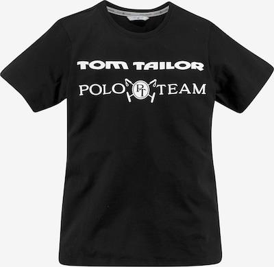 Tom Tailor Polo Team T-Shirt in schwarz / weiß, Produktansicht