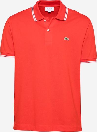 LACOSTE T-Shirt en rouge orangé / blanc, Vue avec produit