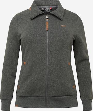 Ragwear Plus Sweatjakke 'IZOLDA' i svart