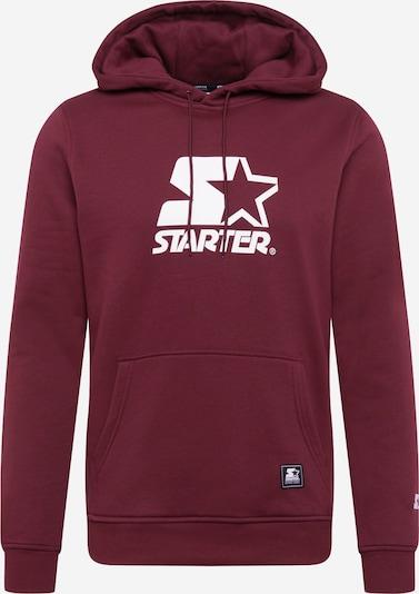Starter Black Label Sweater majica u trešnja crvena / bijela, Pregled proizvoda