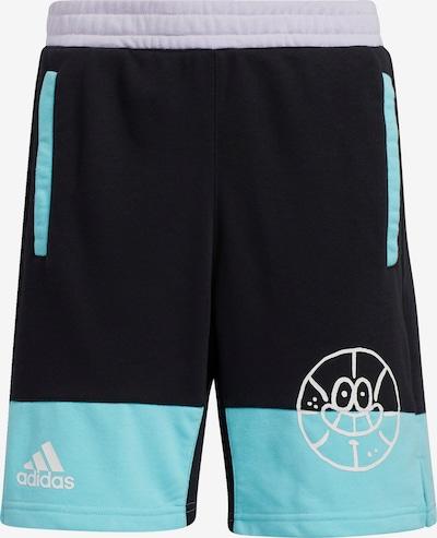 ADIDAS PERFORMANCE Pantalon de sport en turquoise / noir, Vue avec produit