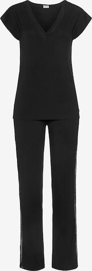 LASCANA Pyjama in schwarz, Produktansicht