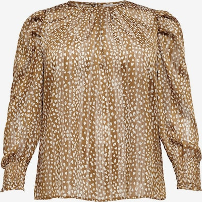 ONLY Carmakoma Bluse in beige / braun, Produktansicht
