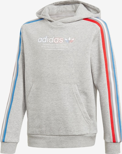 ADIDAS ORIGINALS Sweatshirt in blau / graumeliert / rot / weiß, Produktansicht