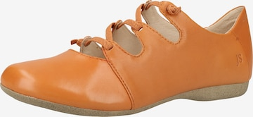 JOSEF SEIBEL Ballet Flats with Strap 'Fiona' in Orange