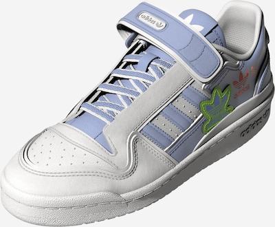 Sneaker low 'FORUM PLUS' ADIDAS ORIGINALS pe albastru fumuriu / verde kiwi / portocaliu / alb, Vizualizare produs