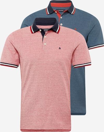 JACK & JONES Poloshirt 'Paulos' in navy / dunkelblau / dunkelorange / pastellrot / weiß, Produktansicht