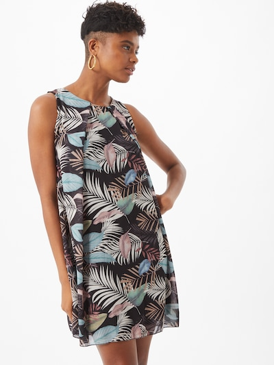 Sublevel Kleid in blau / schwarz, Modelansicht