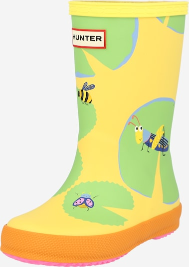 HUNTER Rubber boot 'FIRST CLASSIC LILLY' in Light blue / Yellow / Green, Item view