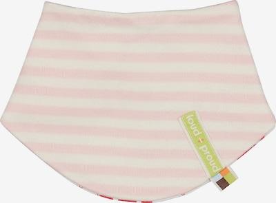 loud + proud Tuch in rosa / weiß, Produktansicht