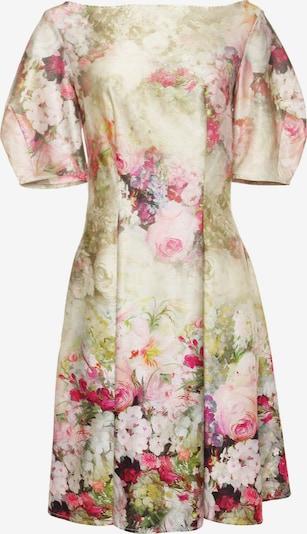 Madam-T Sommerkleid 'ROBERTA' in beige / grün / rosa, Produktansicht