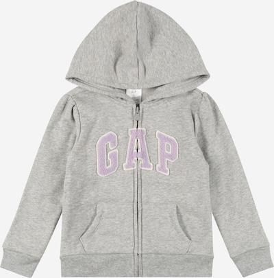 GAP Sweatjacke in graumeliert / mauve / weiß, Produktansicht