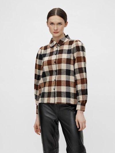 OBJECT Blouse 'Johanna' in Beige / Brown / Black, View model
