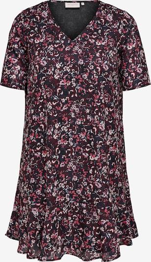 ONLY Carmakoma Kleid 'Flower Dream' in rosa / burgunder / pastellrot / schwarz, Produktansicht